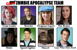 Glee Zombie Apocalpse Team by BlazeEdge