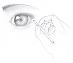 Drawing an eye by xXChaos94Xx