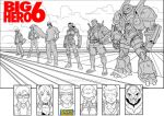Big Hero 6 Commemorative Piece inks by Uncle-Gus