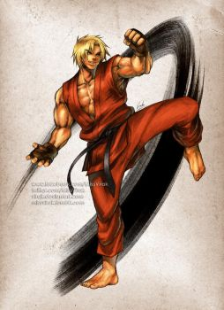 Street Fighter Ken by virak