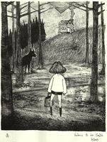 The Girl and the Log Cabin by VickyToriAh