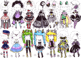 CLOSED-Fancy outfits by Guppie-Adopts