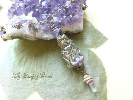 *Lavender Magic Vial Amulet* by EnchantedTokenArt