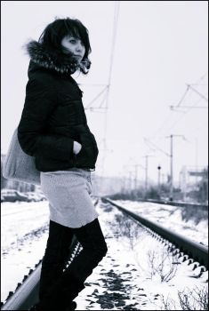 Waiting the Train by Subryna