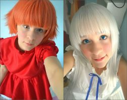 New Ponyo and Menma Wigs! by thecreatorscreations