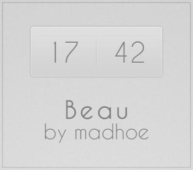 Beau for Rainmeter by undefinist