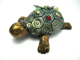 Sheldon the Steampunk Tortoise by Devilish--Designs