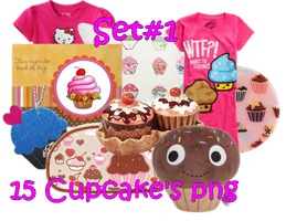 15 Cupcake's PNG Set_1 by JEricaM