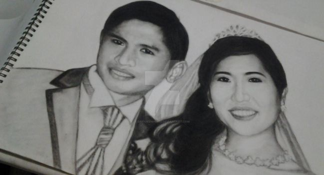 Another Charcoal Portrait ( Couple - Done ) by daisukeniwa05