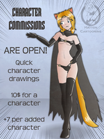 CHARACTER COMMISSIONS ARE OPEN by mandalorianjedi