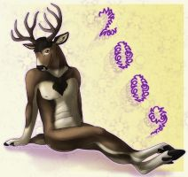 Happy Nude Deer 2009 by Idess