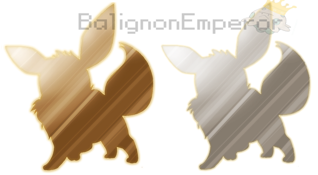 Eevee Badge - Normal and Chromatic versions by BalignonEmperor