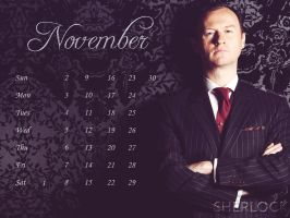 The Gatiss Guild 2014 Desktop Calendar - November by thegatissguild