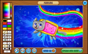 Nyan cat in Art Studio by mlpdarksparx