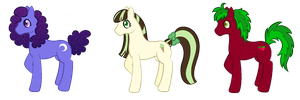Earth Pony Adoptables - 2/3 OPEN by zomgmad