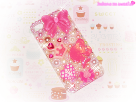 Hime Decoden iPhone 4 Case by kpossibles