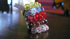 Assorted Pretty Glass Rings 2 by westiepup