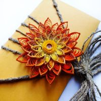 quilling envelope Orange by othewhitewizard