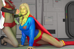 Supergirl Green Kryptonite Surpirse by orionsforge