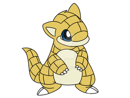 Pokedex Challenge #027 Sandshrew by washumow