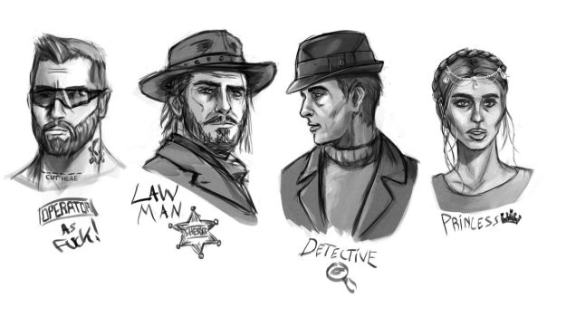 Character Sketches by DougBurbridgeArt