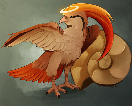 Hail Helix Fossil and Bird Jesus by MapleSpyder