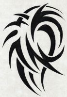 Thorny Tribal Tattoo Design by NarcissusTattoos
