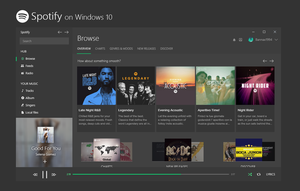 Spotify Universal App on Windows 10 - Concept by bannax1994