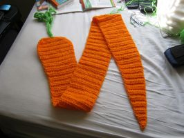 Giant Carrot Scarf by AngelEggie