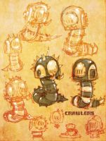 Black Tribe Crawler Robots by SpaceCowSmith