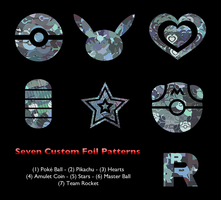 Seven Custom Foil Patterns by icycatelf