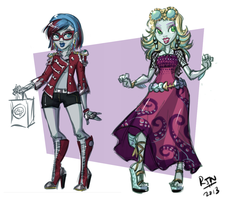 MH - I Heart Shoes Ghoulia and Lagoona by Roland-N