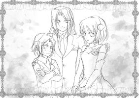 Family Rough sketch by 0Marythecat0