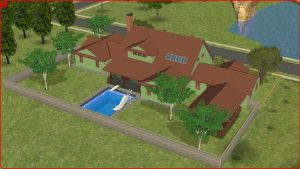 Sims 2 green family home by RamboRocky