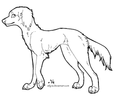 Saluki lineart by Velyra