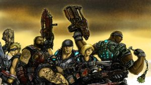 Gears of War 3 Contest Entry 1 by Partin-Arts