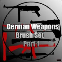 WW2 German Weapons Brush Set by Brutaliz