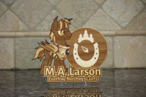 M.A. Larson EFNW 2015 Plaque by Earth-Pony