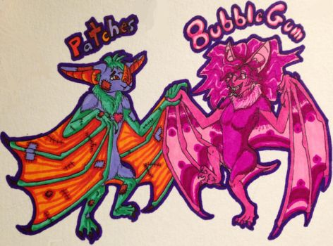 Patches and BubbleGum Bat Adopts :OPEN: 2/2 by Djora