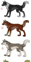 Adoptables 3 by wolfshadow10