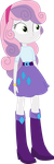 Equestria Girls Sweetie Belle (Rarity's clothes) by SketchMCreations