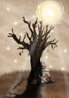 Sitting beneath the Doubt Tree by Garobro
