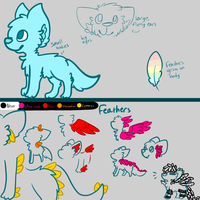 feather fennecs ref sheet by the-runaway-josh
