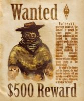 Wanted Poster: Ra'Reskk by TheOldYeBard