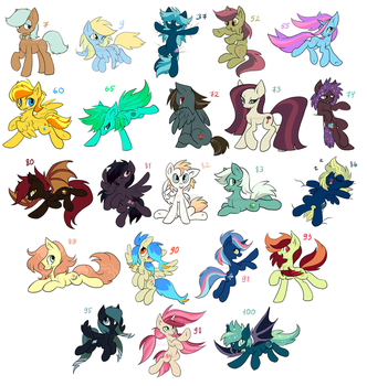 MLP adoptables - LAST pack - OPEN by hioshiru-alter