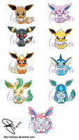 Eevee Stickers by idolnya