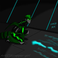 tracking a sparkeater(RP) by Scrapper-Girl