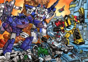 Assault at Autobot city by danbrenus