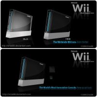 Nintendo Wii-Black System Icon by ertai88
