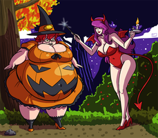 Spooky Stories!! - The Devil and Her Pumpkin by Axel-Rosered